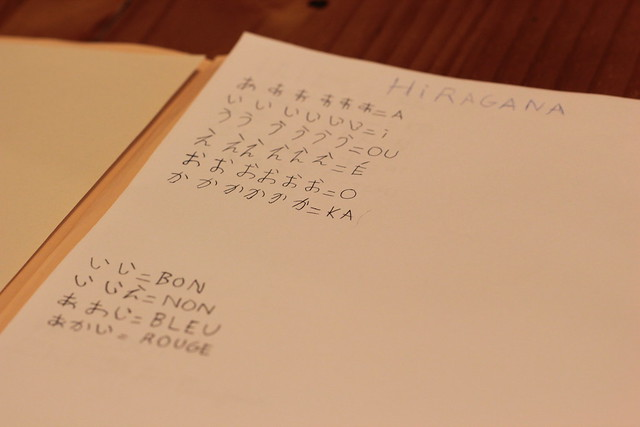 a little introduction to hiragana