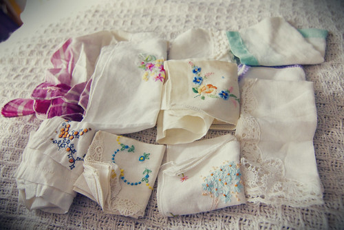 chantilly vintage hankies