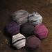 Bee Keeper's Quilt: murky purples honeycomb
