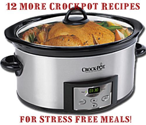 12 More Crockpot Recipes for Stress Free Meals!