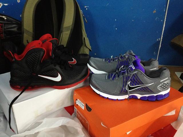 Nike籃球鞋與慢跑鞋