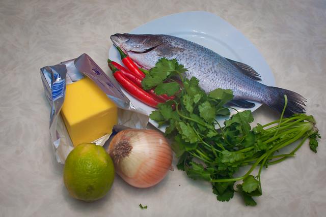 紙包魚 食材