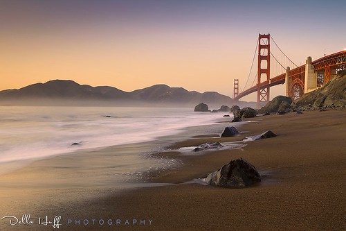 Last Light: Marshall Beach & Golden Gate Bridge