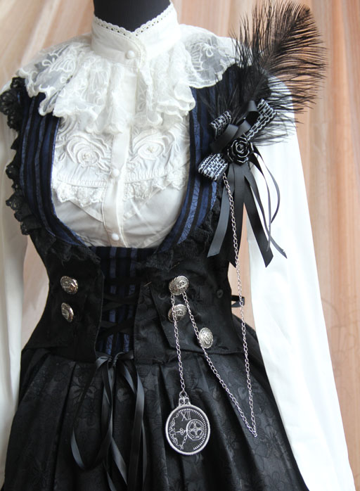 Infanta_Flower_of_Time_Button_Corduroy_Lolita_Sundress_3