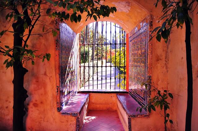 Seville's Alcazar ...Gazing out into the Garden