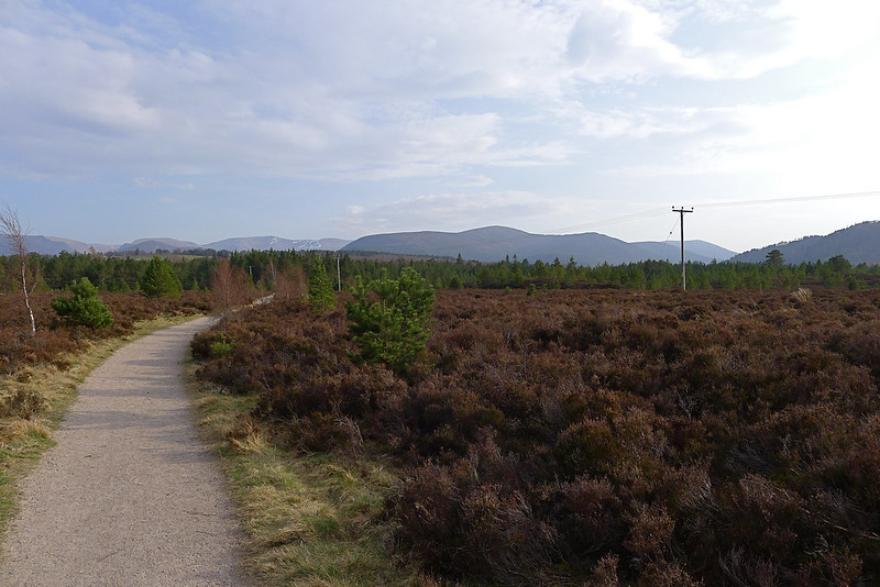 View back to the Cairngorms