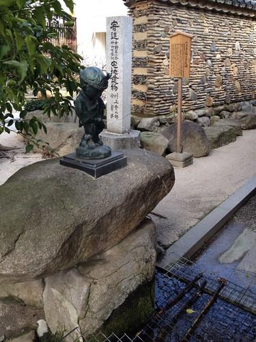 櫛田神社の小便小僧