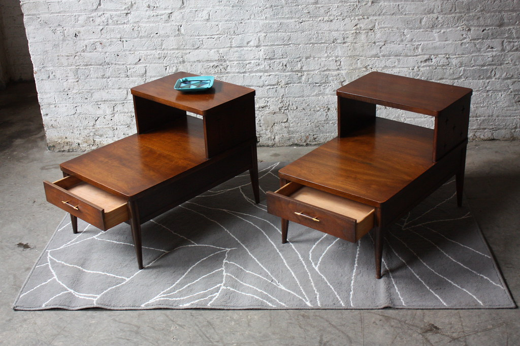 Handsome Broyhill Saga Mid Century Modern End Tables Mint Flickr