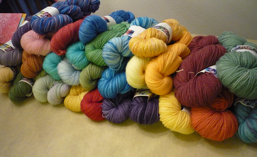 new dyed yarn!
