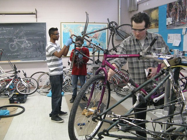 Wed, 02/15/2012 - 14:50 - Working on bikes