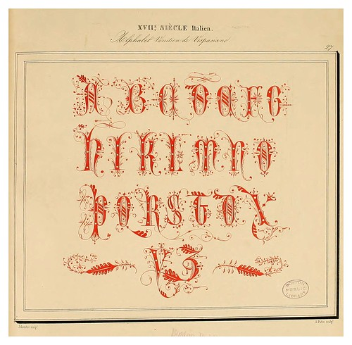 006-Alphabet-Album collection de soixante feuilles d'alphabets historiés 1843- Joseph-Balthazar Silvestre