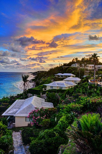 sunset bermuda warwick hdr surfside