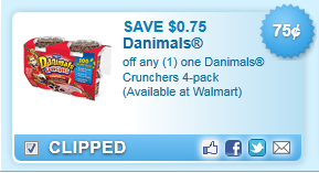 Danimals Crunchers 4-pack Coupon