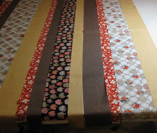 strip quilt layout