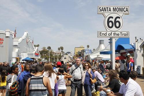 Fin de la Ruta 66 en Santa Monica (California)