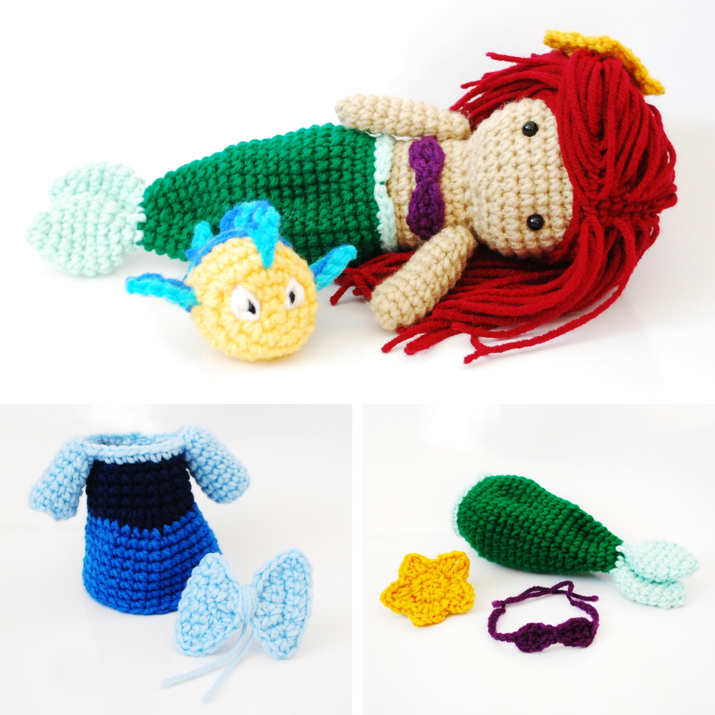 Crochet Amigurumi Collection : Ariel, The Little Mermaid. Crochet Amigurumi Doll ...
