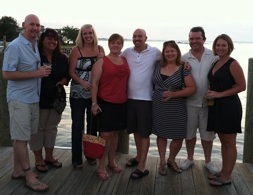 Extended Family and Friends: Enjoying Waterfront Dinner with Friends