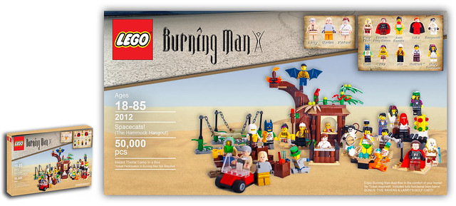 Burning man lego set