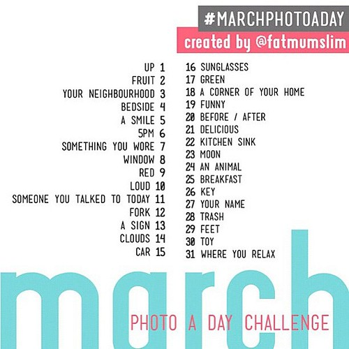 Get ready for #marphotoaday March!