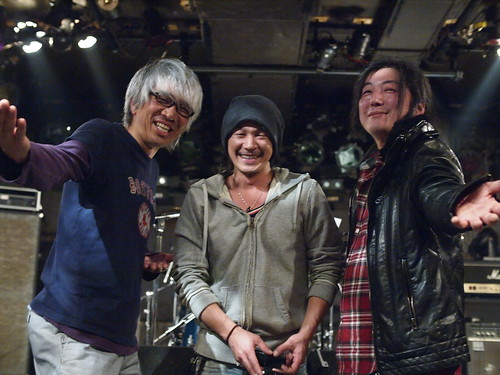 Off stage break at Outbreak, Tokyo, 20 Feb 2012. O045