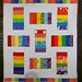 Spectrum Stacked Coins Baby Quilt by During Quiet Time (Amy)