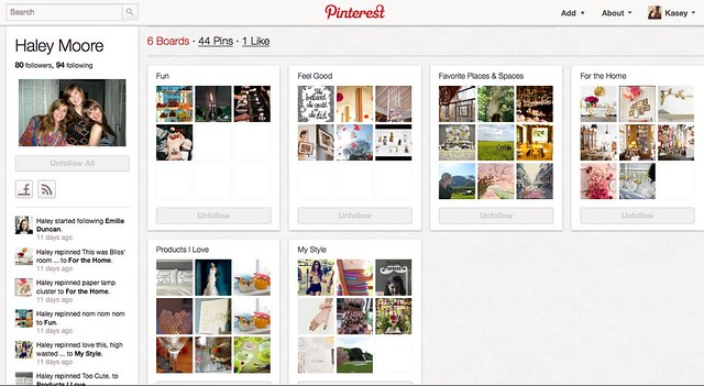 haley pinterest page