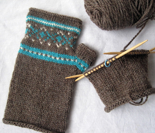 On the Needles: Fair Isle Fingerless Gloves - The Stitcherati