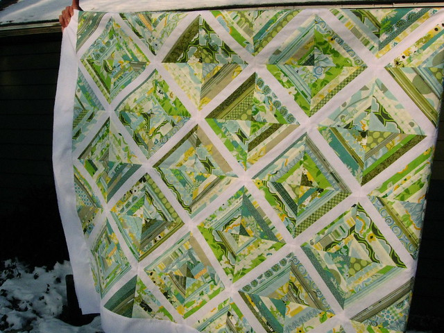1/4 of the sparkling pond quilt