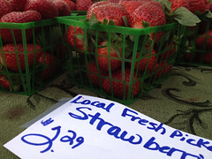 image of strawberries in a basket