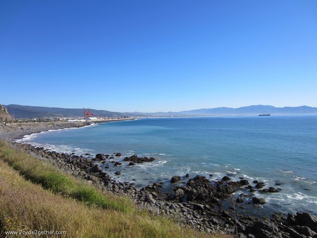 View of Ensenada, entering the city.