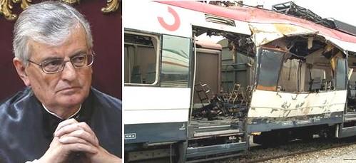 el fiscal general del estado, eduardo torres-dulce y un vagón de tren que explosiono el 11-m de 2004