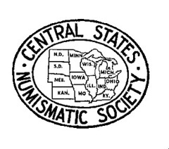 Central Stats Numismatic Society logo