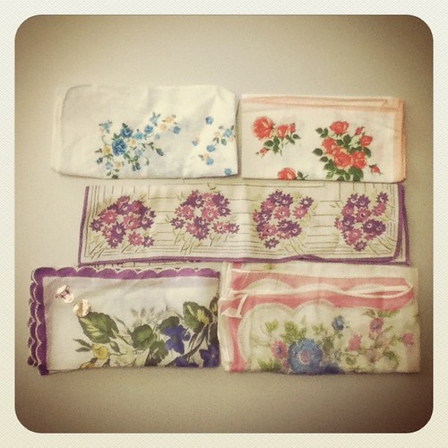 Sweet floral hankies