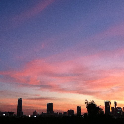 Multicolor Bangkok sunset, Sun. evening edition. No filter.