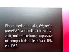 Prigioni e paradisi, di Colette, Del Vecchio editore 2012; Grafica e impaginazione di Dario Lucarini, disegno di cop.: Luigi Cecchi. risvolto di copertina (part.), 2