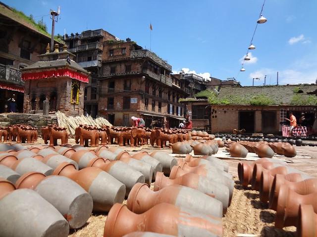 Praça da Cerâmica em Bhaktapur Nepal