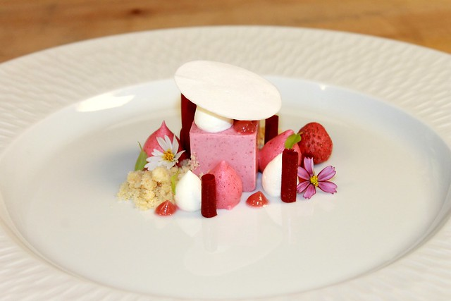 Rhubarb Strawberry Semifreddo, Mascarpone Mousse, Raspberry Glass ...