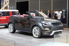 range stormer(0.0), automobile(1.0), automotive exterior(1.0), range rover(1.0), sport utility vehicle(1.0), wheel(1.0), vehicle(1.0), automotive design(1.0), rim(1.0), auto show(1.0), range rover evoque(1.0), land vehicle(1.0), motor vehicle(1.0),