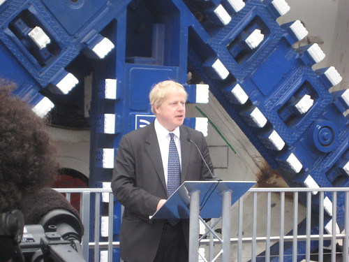 Boris Johnson Crossrail Tunnel Boring Machine Launch - 13th March 2012