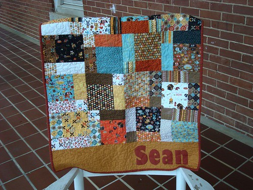 Baby Boy Sean Quilt by gnomemade quilts