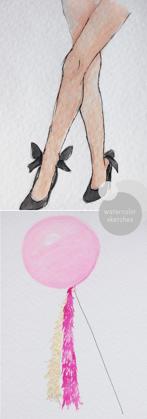 water color fashion sketch illustration legs