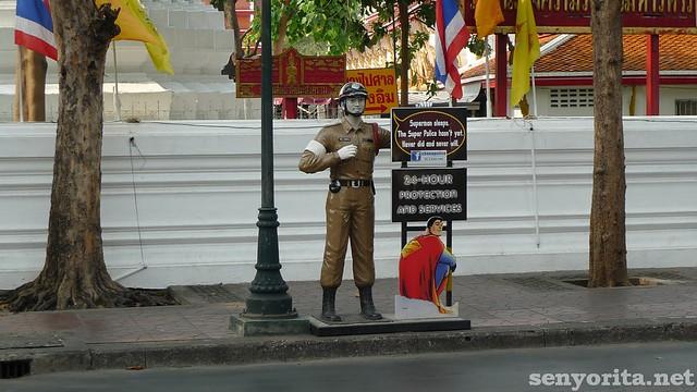 Thai Super Police in Khao San Road