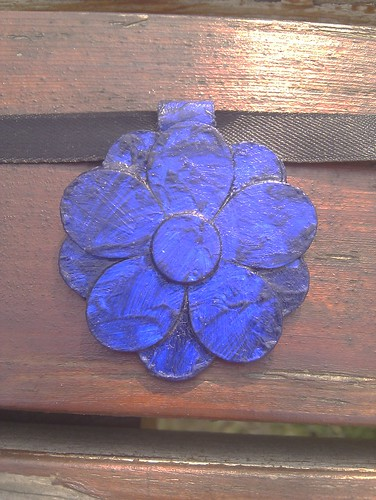 Blue rose pendant