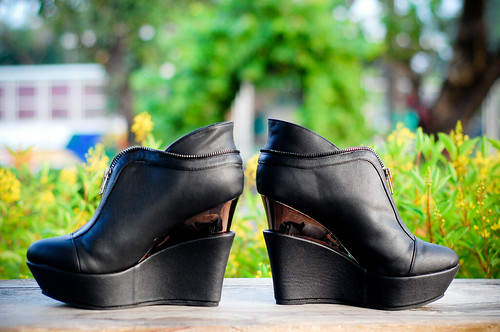 Cherry Maldita Black Mirror Heel Wedges