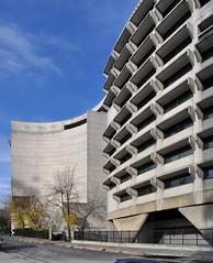 harry seidler, architect, with marcel breuer and pier luigi nervi, australian embassy, paris, 1973-1977