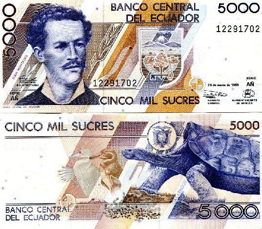 5000 Sucres Ekvádor 1999, Pick 128c