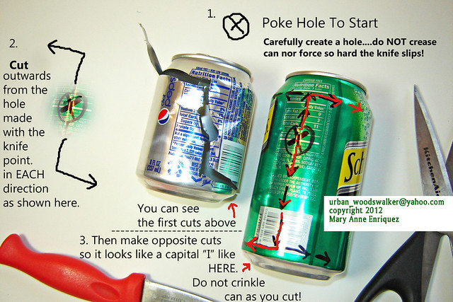 aluminum can crafts how to cut up aluminum cans 1 of 6 photos many 1037
