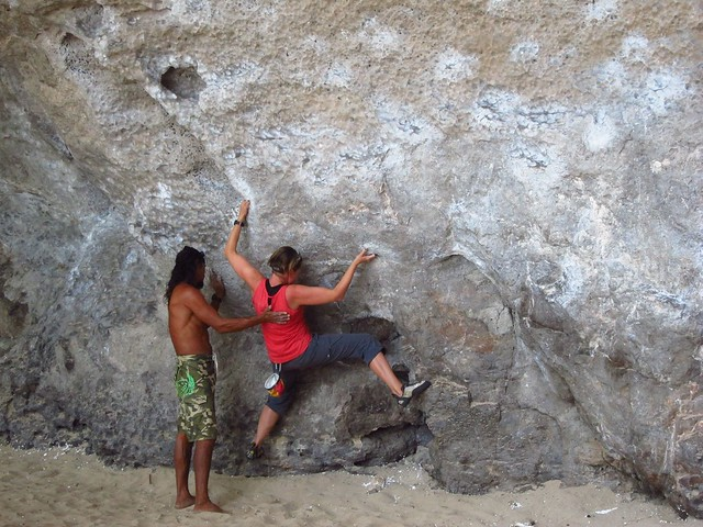 Claudia and Wee Bouldering
