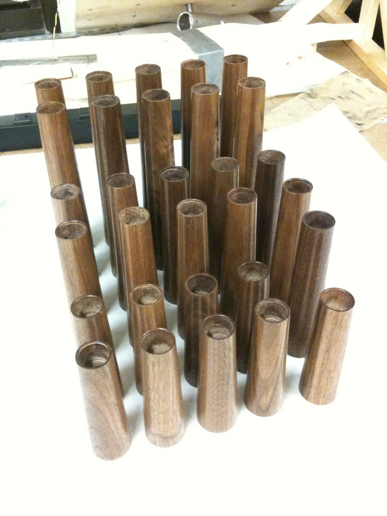 Turned Walnut Candel Sticks