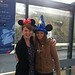 Jill and Frankie sporting EuroDisney souvenirs at the airport
